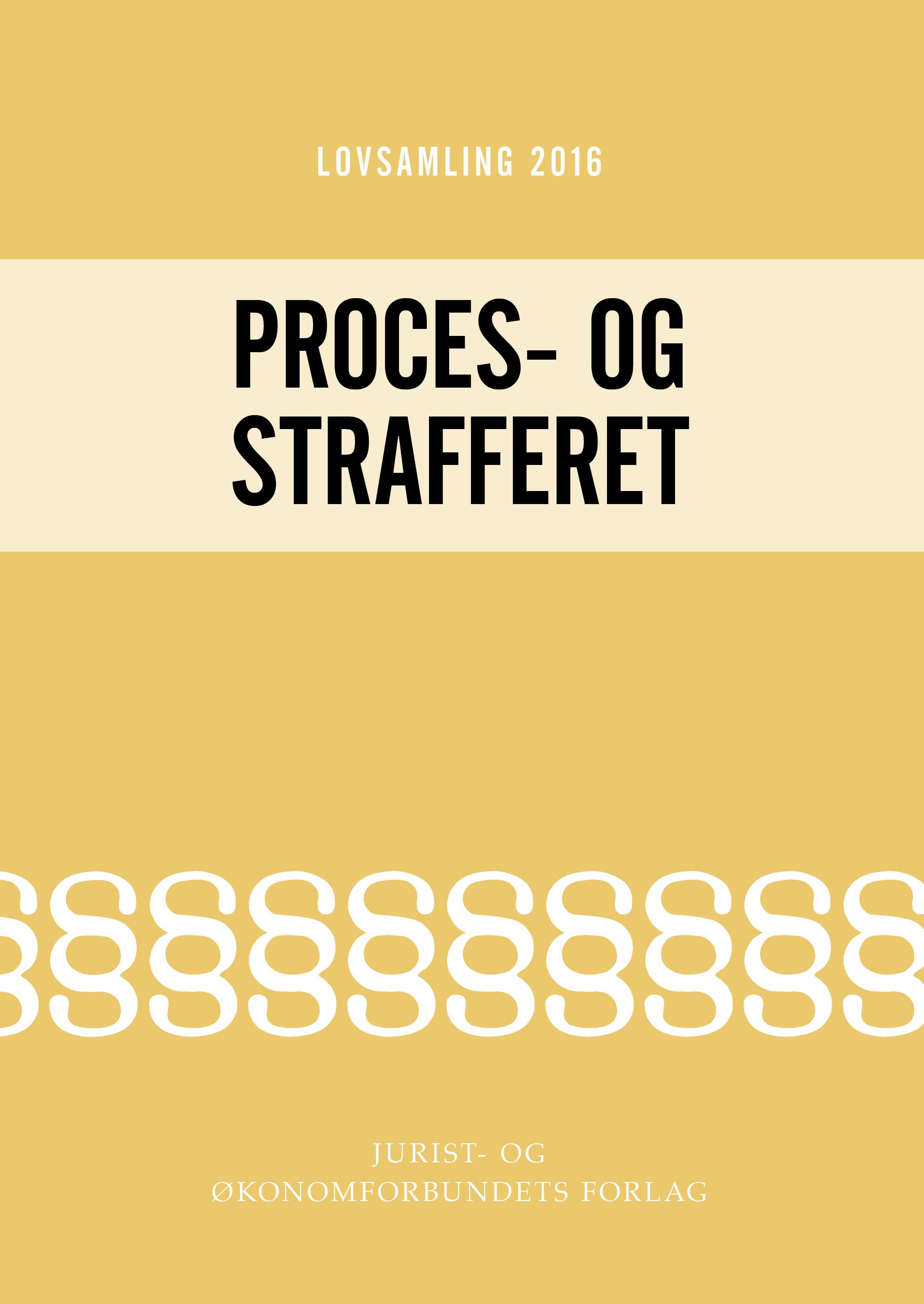 Lovsamling 2016 - Proces- og Strafferet
