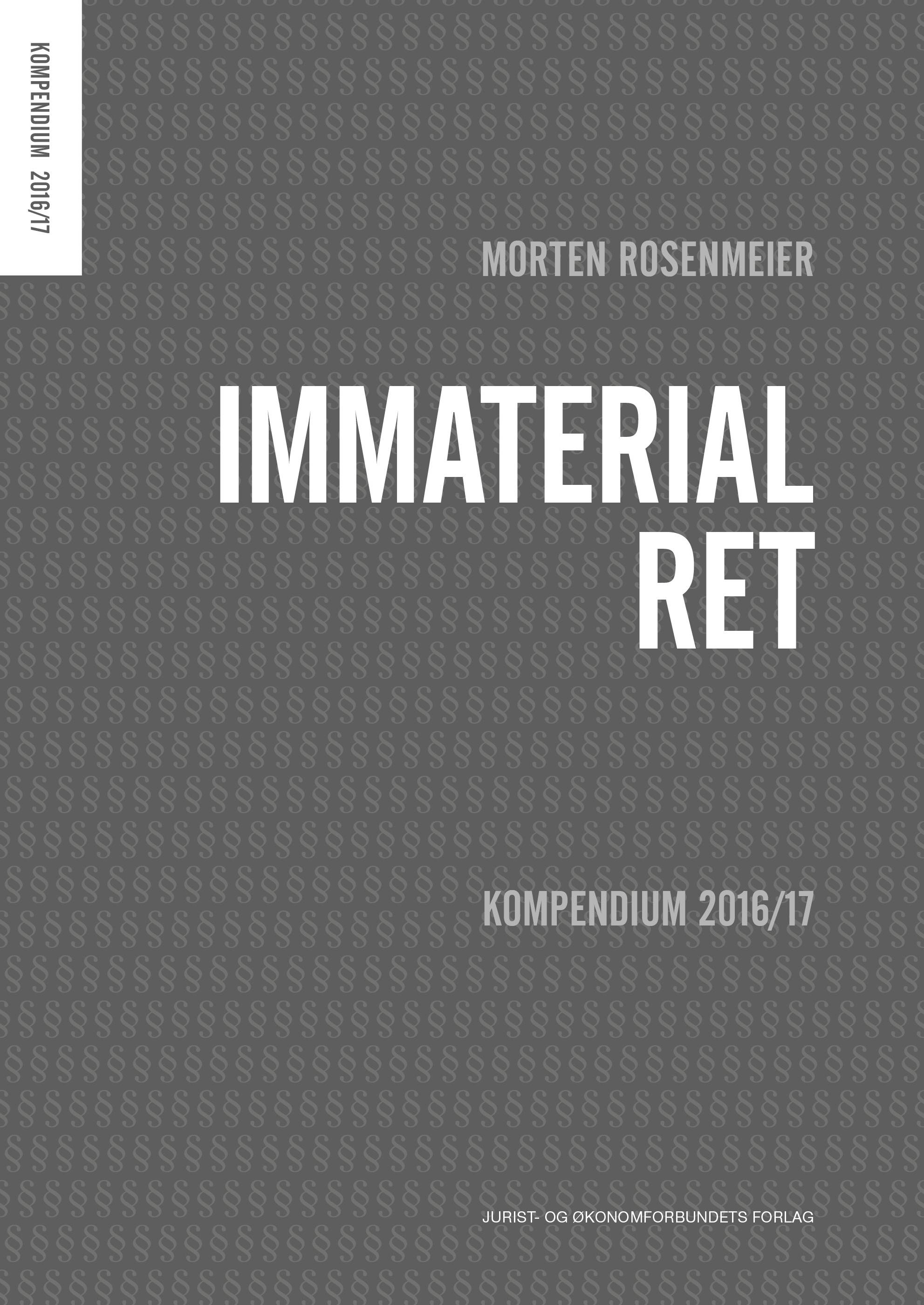 Immaterialret - Kompendium 2016/17
