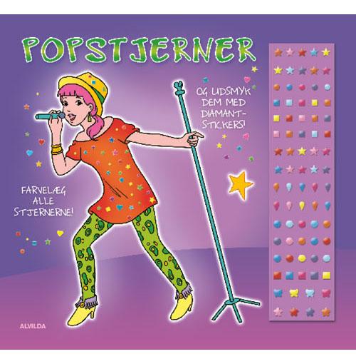 Popstjerner (malebog m. diamantstickers) - sæt á 3 stk. Pris pr. stk. 29,95