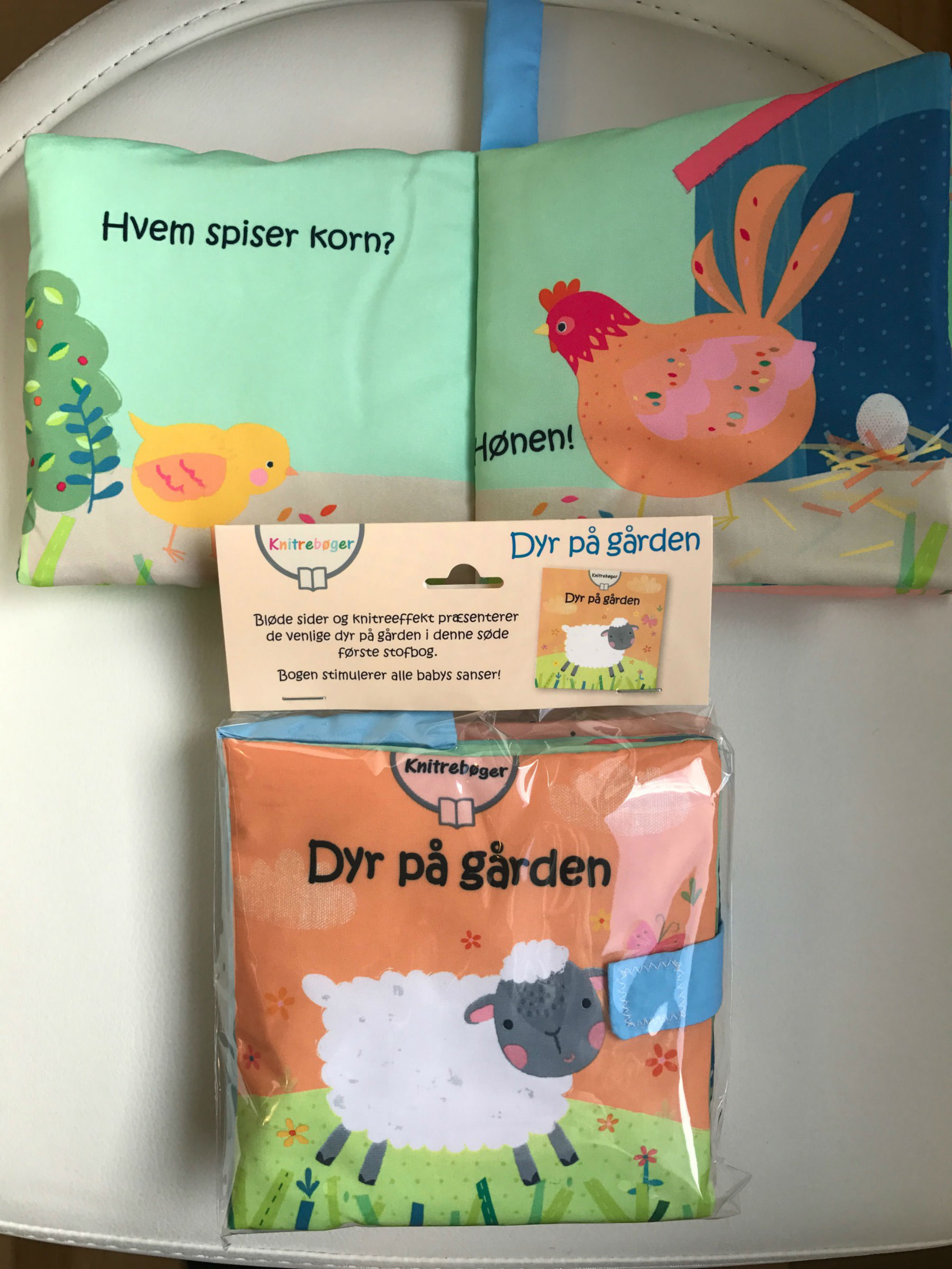 Knitre stofbøger. Dyr på gården
