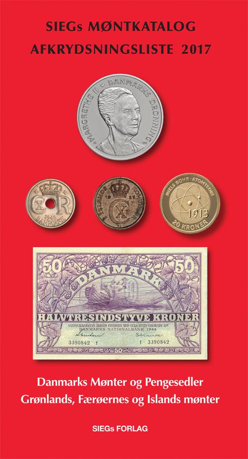 Siegs Møntkatalog og Afkrydsningsliste 2017 - med pengesedler