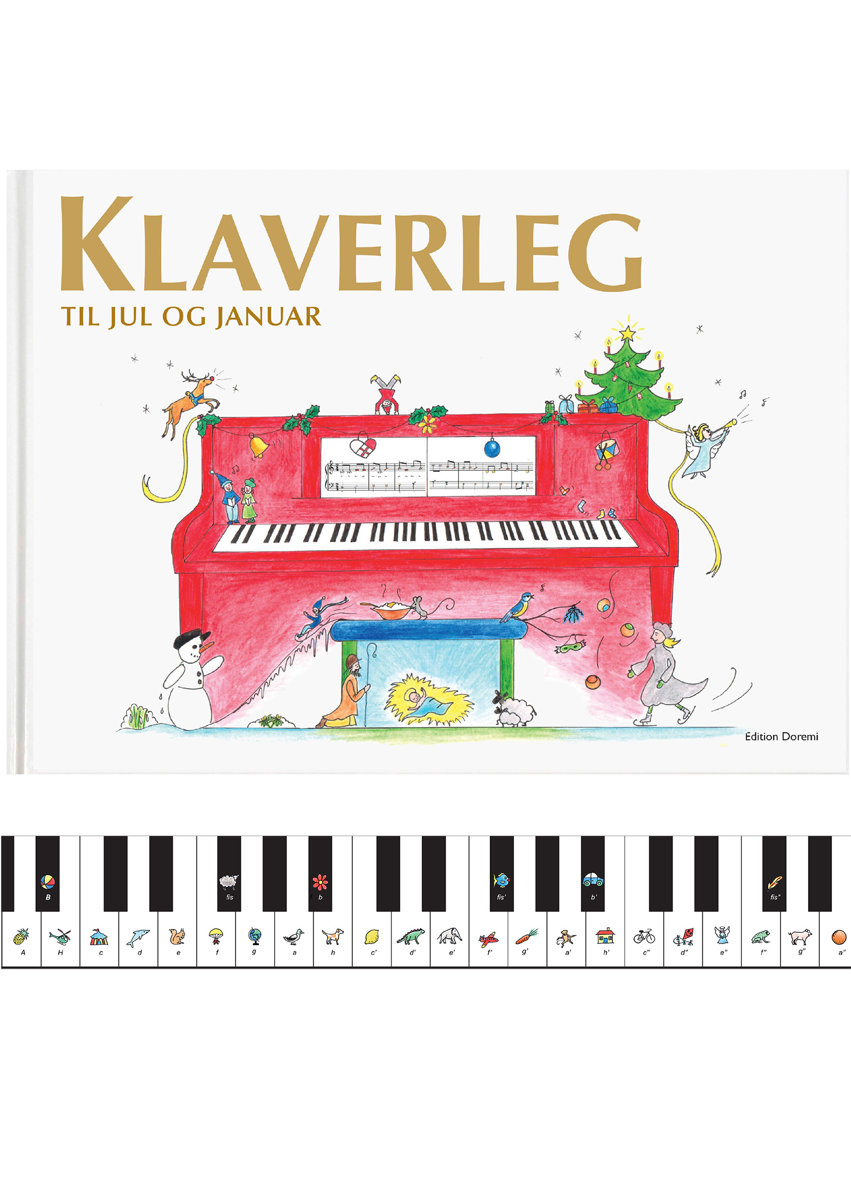 Klaverleg til jul og januar (rød)