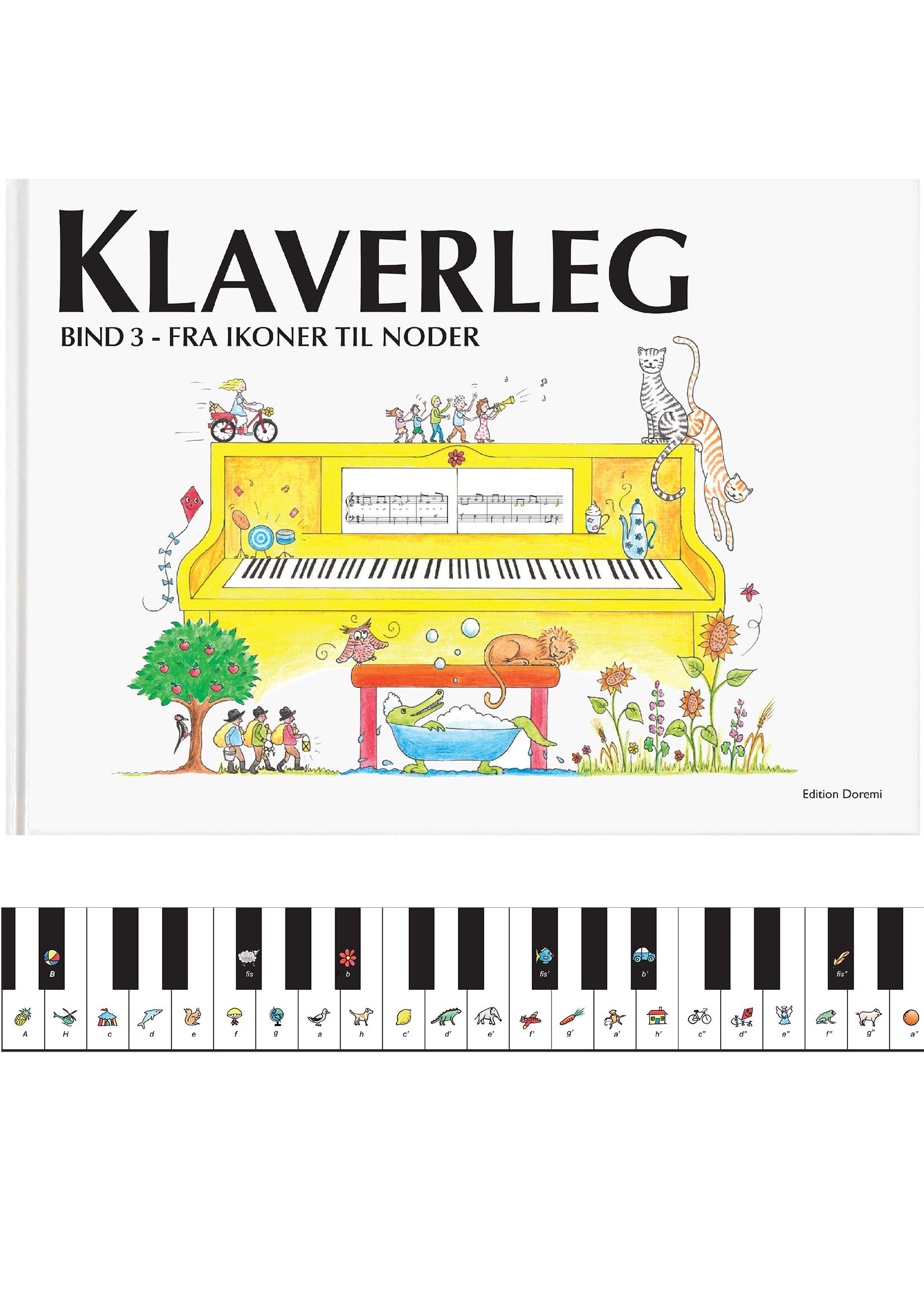 Klaverleg bind 3, fra ikoner til noder (gul)
